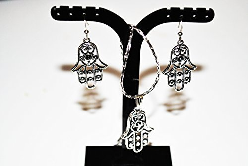 HAMSA FATIMA HAND NECKLACE SET EVIL-EYES PROTECTION - Mus...