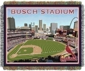 The Northwest Co MLB Stadium Woven Tapestry Throw St. Louis Cardinals