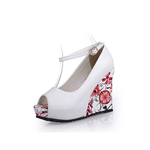 Polyurethane Height Platform Womens White Color Buckle Sandals Assorted Adee fzaqFwYStt