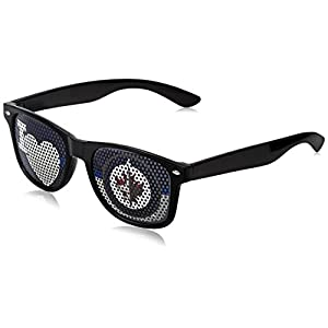 NHL Winnipeg Jets Adult I Heart Game Day Shades, Black