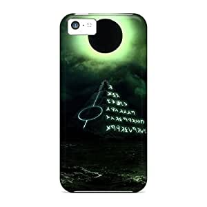 Durable Black Moon Back Case/cover For Iphone 5c