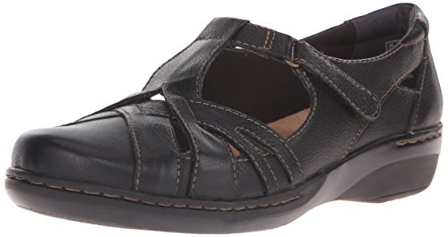 Clarks Women's Evianna Doyle Fisherman Sandal, Black, 6 W US