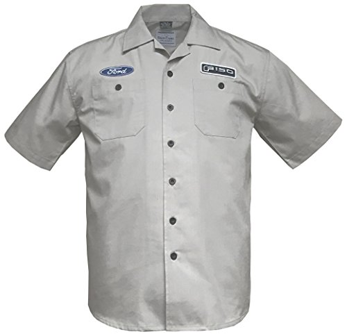 David Carey Ford F-150 Truck Work Shirt (M) Gray (2006 Ford F350 King Ranch Diesel For Sale)