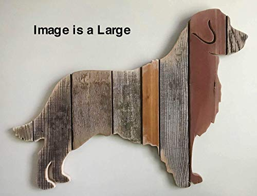 Silhouette Retriever Golden - Wooden Golden Retriever silhouette made with reclaimed wood (sold-order yours now)