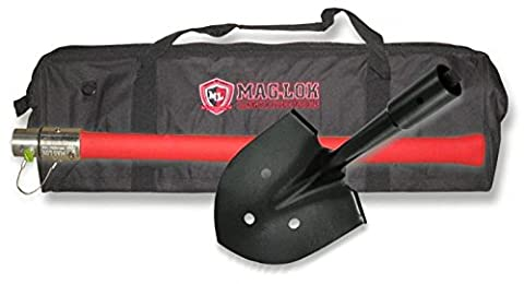 Mag-Lok Offroader's LONG-HANDLE Vehicle Extraction Shovel w/ Storage/Carry Bag (Max Axe Tool)