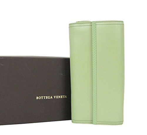 Bottega Veneta Continental Green Leather Clutch Wallet 310494 3414