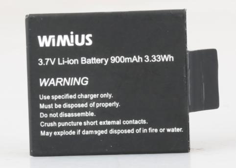 WiMiUS充電式バッテリー900 mA / h qシリーズスポーツカメラアクションカメラ B07CJYLNXK