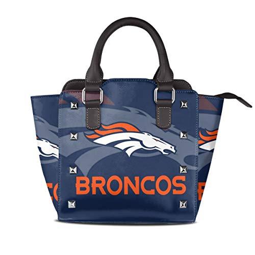 - Aoskin Custom Denver Broncos Women's Luxury Rivet Leather Handbag Shoulder Tote Bag,Women Shoulder Bags Satchel Purse