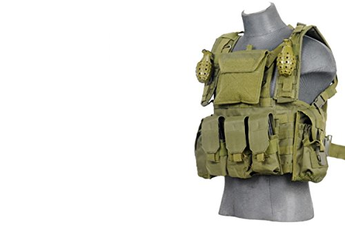 Modular Chest Rig Tactical Gear - OD by Lancer Tactical