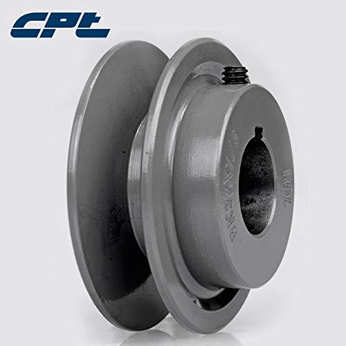 "Ochoos CPT BK30 v Belt Pulley sheave, Cast Iron, B Belt Section, 1 Groove, Bore 5/8"", 3/4"", 7/8"", 1"", 1-1/8"", 3.15""OD, BK Pulley - (Bore Diameter: 5-8 inch)"