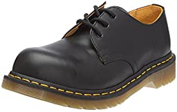 Dr. Martens Mens 192511021 1925 5400 Uniform Dress Shoe, Black Fine - 9.5