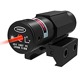 Lanboo Mini Red Dot Laser Sights Scope with 20mm Mount Gun Pistol Rifle Optics Bore Sight for Outdoor Hunting