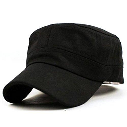 Women Baseball Cap Men Snapback Caps Girl Vintage Army Cadet Style Fashion Black Hats