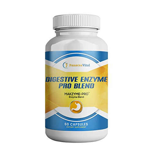 Digestive Enzyme Supplements, Panacea Vital Premium Digestive Enzymes Dietary Supplement for Healthy Gut and Optimal Digestion, Non-GMO Digestive Enzymes for Women and Men, 60 Vegetable Capsules