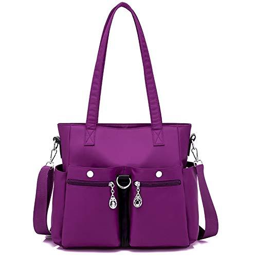 2086 A Mano Exull Stile Sacchetto Nylon Moda Tote Donna In Borsa Messaggero Multi Purple Da Spalla Gdlxl Tracolla Impermeabile Tasche Con Borsetta Borse black Casual Viaggio qFXYfvwq