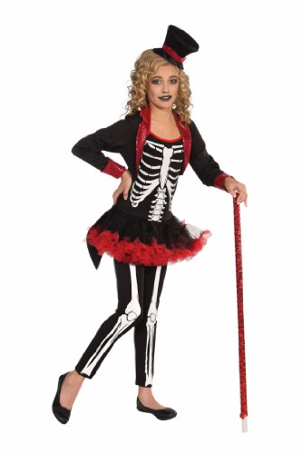 Bones Skeleton Girls Costumes (Forum Novelties Girl Ghoul Miss Bone Jangles Child Costume, Medium)