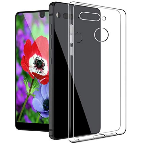 Boonix Essential PH-1 Case, The Essential Phone Skin, Essential Phone Clear Cases, Essential Cell Phone Accessories, Essential PH1 Phone Protector Protection Cover Protective Bumper (Clear) from Boonix