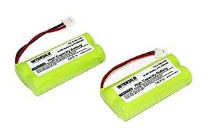 INTENSILO 2x NiMH batería 800mAh (2.4V) para teléfono fijo inalámbrico Universum CL15, SL15 por V30145-K1310-X359.