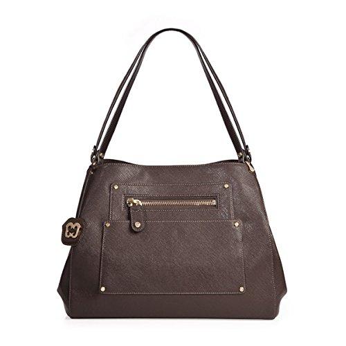 Eric Javits Luxury Fashion Designer Women's Handbag - Adams Handbag - Chocolate by Eric Javits