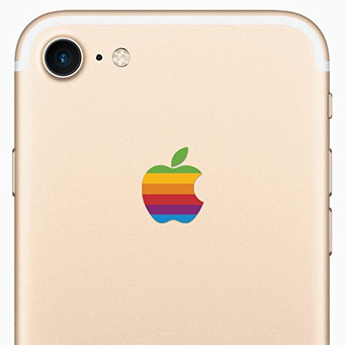Retro Rainbow Apple iPhone 8 Decal Sticker for the iPhone 8