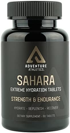Sahara Extreme Hydration Electrolyte Tablets Promotes Energy, Strength, Stamina Recovery Prevents Muscle Cramps Fatigue Keto Friendly Maximum Strength with B6, Boron, Taurine, 90 Tablets