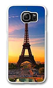 S6 Case, Galaxy S6 Case, Eiffel Tower05 Shock Absorption Bumper Case Protect Slim Fit S6 Hard PC Clear Edge Cover for Samsung Galaxy S6