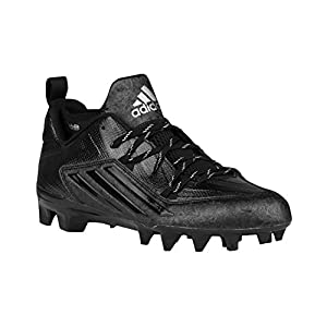 adidas Mens Crazyquick 2.0 Mid Football Cleats (Black/Black/Black, 12 D (M) US)