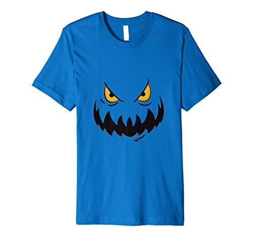 Crazy Evil Grin Demon Scary Pumpkin Face Halloween Gift Premium -