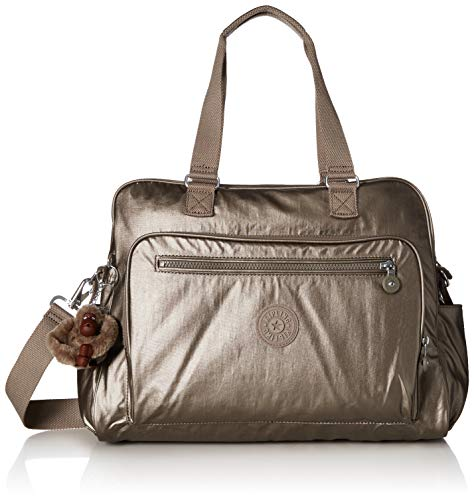 Kipling Women's Alanna Diaper Bag, Metallic Pewter, One Size