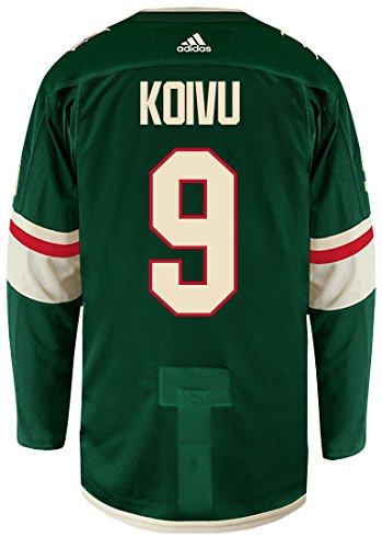 4cee9f699 Image Unavailable. Image not available for. Color  Mikko Koivu Minnesota  Wild Adidas Authentic Home NHL Hockey Jersey