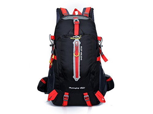 Junson スポーツ ミリタリー タクティカル バックパック スポーツ アウトドア 登山 バッグ ハイキング バックパック(ブラック) 収納用   B07FNMG73W