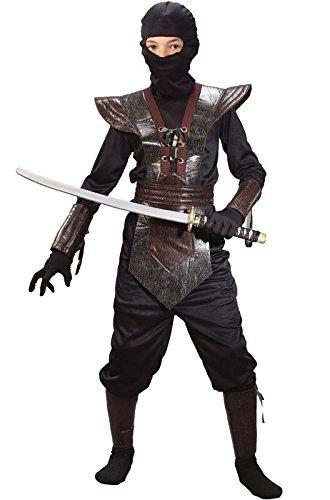 [Leather Ninja Fighter Costume - Medium] (Cool Halloween Costumes Boys)