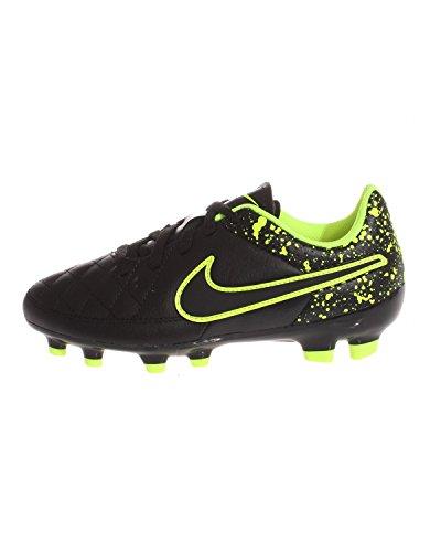 black black black Genio volt Enfant Chaussures Verde Fg Mixte Noir Football De Black Tiempo Nike Leather POYawn55x