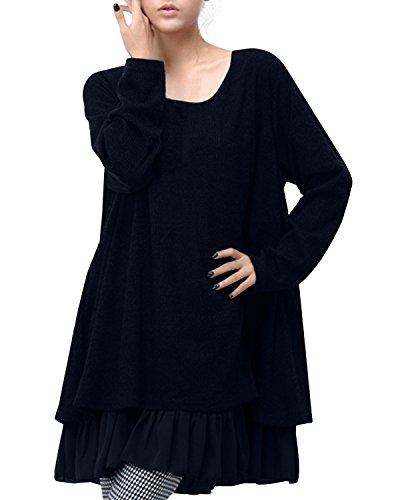 ZANZEA Womens Fashion Long Sleeve Round Neck Loose Casual...