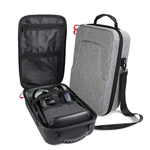 Sodoop Hard Travel Carry Case for Oculus Quest Virtual Reality, Waterproof Shockproof EVA Protect Bag Storage Box Carring Cover Case for Oculus Quest VR Gaming - Mini Slate Quest