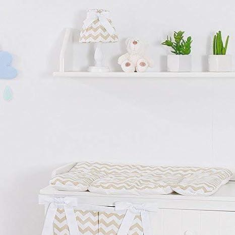 Sevira Kids - Colchón cambio de 75 x 70 flexible y lavable con punteras planteadas - diferentes color - Zig-zag Beige, TU: Amazon.es: Bebé