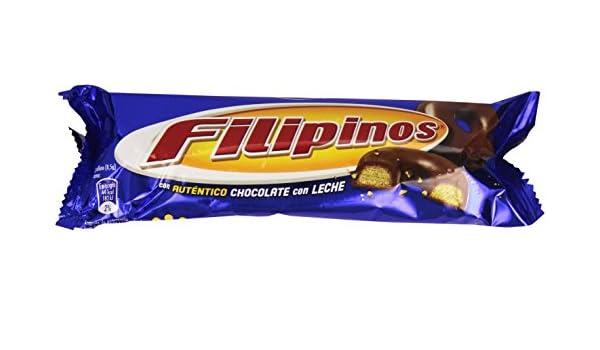 Filipinos - Galletas bañadas con chocolate con leche - - 100 g: Amazon.es: Alimentación y bebidas