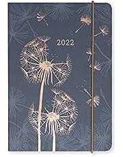 Matilda Myres 2022 Rose Gold Paardebloem A6 Day a Page Diary - Grijs - jan t/m december