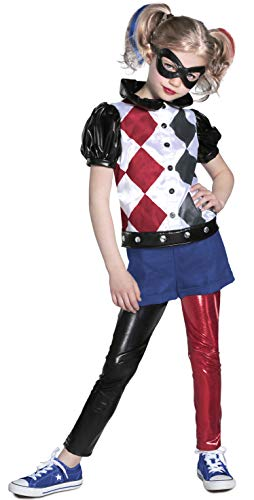 Princess Paradise DC Super Hero Girls Premium Harley Quinn Costume, Red/Black/White, Small