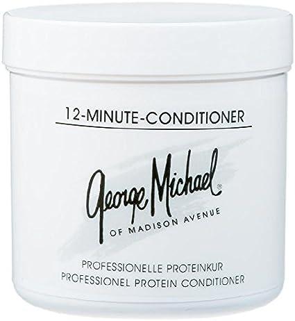 George Michael Acondicionador en 12 minutos, 185 ml, tratamiento proteico para cabello muy seco, dañado y dañado.