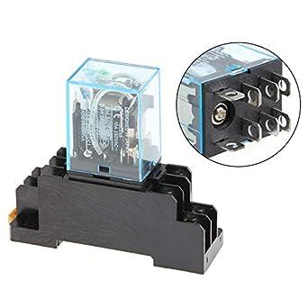 uxcell/® JQX-13F AC 110V Coil 8 Pin 2NO 2NC Power Relay w PTF08A Base Socket