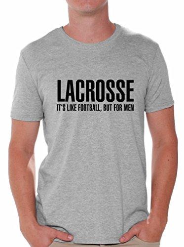 Awkward Styles Men's Lacrosse It`s Like Football But for Men T Shirt Tops Sport Grey L ()
