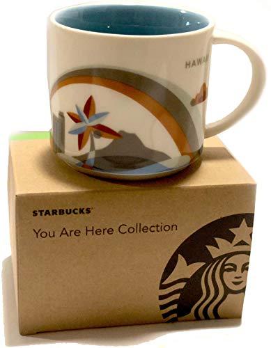 Hawaii White Mug (Starbucks Hawaii - You Are Here Collection Coffee Mug with Rainbow and Diamond Head (011023931))