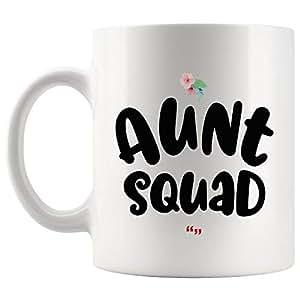 Amazon.com: Aunt Squad Uncle Inspiring New Mom Mug Mother