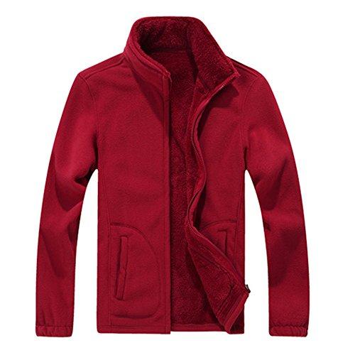 Abrigos Grandes M Tallas Chaquetas Rojo Gris Abrigos Azul Parka Espesar 4XL Invierno hibote Lana Ropa Moda Verde Abrigo Hombres Rojo Negro 0fxqTw5
