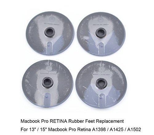 "Macbook Pro RETINA Display Bottom Case Rubber Feet Replacement Set A1425 A1502 A1398 13"" 15"" - RION TECH"