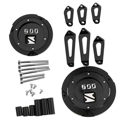 B Blesiya Motorcycle Engine Stator Cover Engine Guard Protection Side Shield Protector - Black: