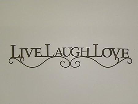Live Laugh Love Metal Sign