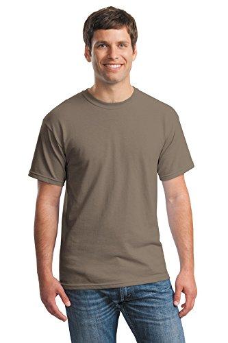 Gildan Men's Heavy Cotton Tee (Pack of 12), Brown Savana, (Brown T-shirt)