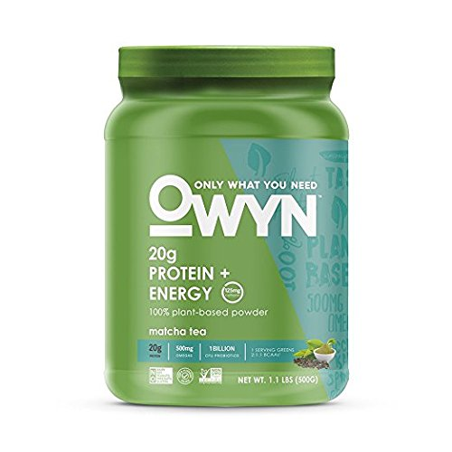 OWYN Only What You Need 100% Vegan Plant-Based Protein Powder, Matcha Tea, Dairy Free, Gluten Free, Soy Free, Allergy Friendly, Vegetarian, 1.1 Pound Tub, 1 Count (Best Tasting Vegetarian Protein Powder)